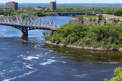 Ποταμός Rideau, Οττάβα Στοκ εικόνα με δικαίωμα ελεύθερης χρήσης