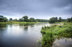 Ποταμός Ruza, περιοχή της Μόσχας Στοκ φωτογραφία με δικαίωμα ελεύθερης χρήσης