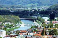 Ποταμός Salzach Στοκ Φωτογραφίες