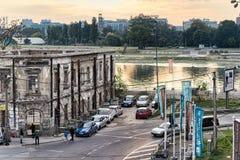 Ποταμός Sava και οδός στοκ εικόνες