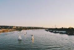 Ποταμός Sava σε Βελιγράδι Στοκ Φωτογραφίες