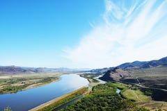 Ποταμός Selenga Στοκ Εικόνες