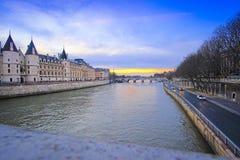 Ποταμός Sena στο Παρίσι Στοκ φωτογραφία με δικαίωμα ελεύθερης χρήσης
