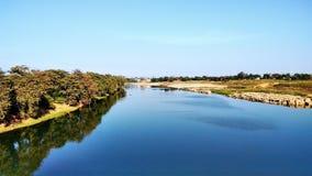 Ποταμός shivnath στοκ εικόνα