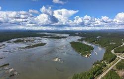 Ποταμός Susitna, Αλάσκα στοκ εικόνα με δικαίωμα ελεύθερης χρήσης