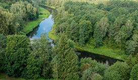 Ποταμός Sventoji σε Anyksciai Στοκ Εικόνες