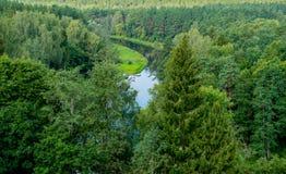 Ποταμός Sventoji σε Anyksciai Στοκ Φωτογραφία