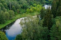 Ποταμός Sventoji σε Anyksciai Στοκ εικόνες με δικαίωμα ελεύθερης χρήσης