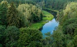 Ποταμός Sventoji σε Anyksciai Στοκ Φωτογραφίες