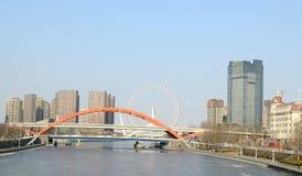 Ποταμός Tianjin Haihe Στοκ φωτογραφία με δικαίωμα ελεύθερης χρήσης