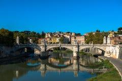 Ποταμός Tibra στη Ρώμη, Ιταλία Στοκ φωτογραφίες με δικαίωμα ελεύθερης χρήσης
