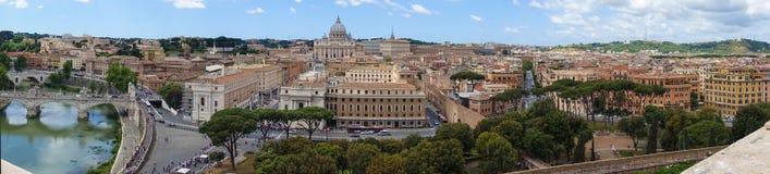 Ποταμός Tibre στην καταπληκτική Ρώμη, Ιταλία Στοκ Φωτογραφία