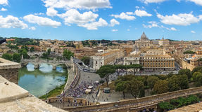 Ποταμός Tibre στην καταπληκτική Ρώμη, Ιταλία Στοκ φωτογραφίες με δικαίωμα ελεύθερης χρήσης