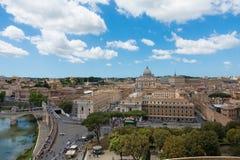 Ποταμός Tibre στην καταπληκτική Ρώμη, Ιταλία Στοκ Φωτογραφίες