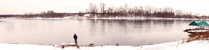Ποταμός Ufa από την Ufa-πόλη στη Ρωσία στοκ εικόνες