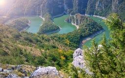 Ποταμός Uvac, Σερβία στοκ φωτογραφία με δικαίωμα ελεύθερης χρήσης