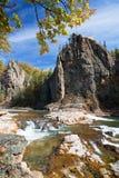 Ποταμός Vanchin. Φθινόπωρο. Ρεύμα 2. Στοκ Φωτογραφία