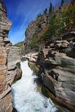 Ποταμός Vanchin. Φθινόπωρο. Ρεύμα. Στοκ Φωτογραφίες