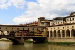 Ποταμός Vecchio Φλωρεντία Arno Ponte στοκ εικόνες