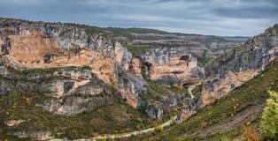 Ποταμός Vero στη σειρά βουνών Guara Στοκ Εικόνες
