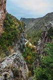 Ποταμός Vero στη σειρά βουνών Guara Στοκ φωτογραφία με δικαίωμα ελεύθερης χρήσης