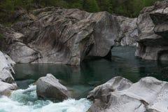 Ποταμός Verzasca, Ticino, Switzerland Στοκ φωτογραφία με δικαίωμα ελεύθερης χρήσης