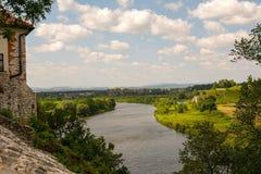 Ποταμός Vistula σε Tyniec (Πολωνία) Στοκ Φωτογραφία