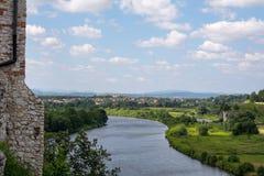 Ποταμός Vistula σε Tyniec (Πολωνία) Στοκ φωτογραφία με δικαίωμα ελεύθερης χρήσης