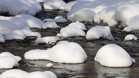 Ποταμός Vit Beli, χειμερινό τοπίο, Βουλγαρία απόθεμα βίντεο