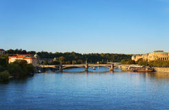 Ποταμός Vltava στην Πράγα Στοκ Φωτογραφίες