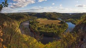 Ποταμός Vltava, Τσεχία Στοκ εικόνα με δικαίωμα ελεύθερης χρήσης