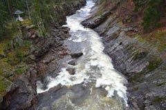 Ποταμός Vuoksa σε Imatra, Φινλανδία Στοκ Εικόνες