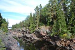 Ποταμός Vuoksa φαραγγιών στοκ εικόνες