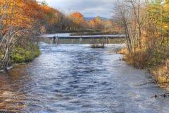Ποταμός Westfield σε Westfield, Μασαχουσέτη στοκ εικόνες με δικαίωμα ελεύθερης χρήσης