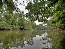 Ποταμός Yadkin κοντά στο Γουίνστον-Σάλεμ, βόρεια Καρολίνα Στοκ Φωτογραφίες