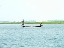Ποταμός Yamuna, ποταμός Brahmaputra, Bogra, Μπανγκλαντές στοκ εικόνες