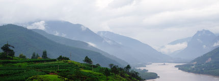 Ποταμός Yangtse στοκ εικόνα με δικαίωμα ελεύθερης χρήσης