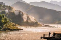 Ποταμός Yangzi (μακρύς ποταμός) στην Κίνα Στοκ εικόνα με δικαίωμα ελεύθερης χρήσης