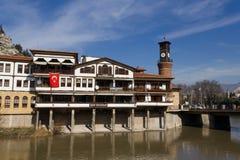 Ποταμός Yesilirmak άποψης Amasya, Τουρκία Στοκ Εικόνα