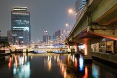 Ποταμός Yodo τη νύχτα στοκ φωτογραφία με δικαίωμα ελεύθερης χρήσης
