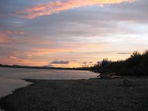 Ποταμός Yukon Στοκ Φωτογραφία