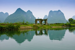 ποταμός yulong Στοκ εικόνες με δικαίωμα ελεύθερης χρήσης