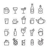 Ποτό εικονιδίων, διάνυσμα στοκ φωτογραφίες