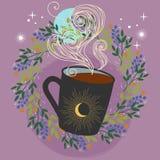 ποτό θερμό Φλιτζάνι του καφέ ή τσάι Διανυσματική απεικόνιση