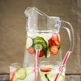 Ποτό διατροφής με τον πάγο Χωρίς θερμίδες Στοκ εικόνα με δικαίωμα ελεύθερης χρήσης