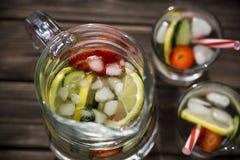 Ποτό διατροφής με τον πάγο Χωρίς θερμίδες Στοκ Εικόνες