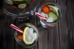 Ποτό διατροφής με τον πάγο Χωρίς θερμίδες Στοκ Εικόνα
