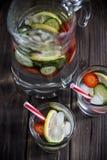Ποτό διατροφής με τον πάγο Χωρίς θερμίδες Στοκ Φωτογραφίες
