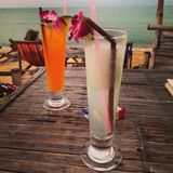 Ποτό με τη θάλασσα στοκ φωτογραφίες