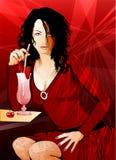 ποτό που έχει τη γυναίκα Στοκ φωτογραφίες με δικαίωμα ελεύθερης χρήσης